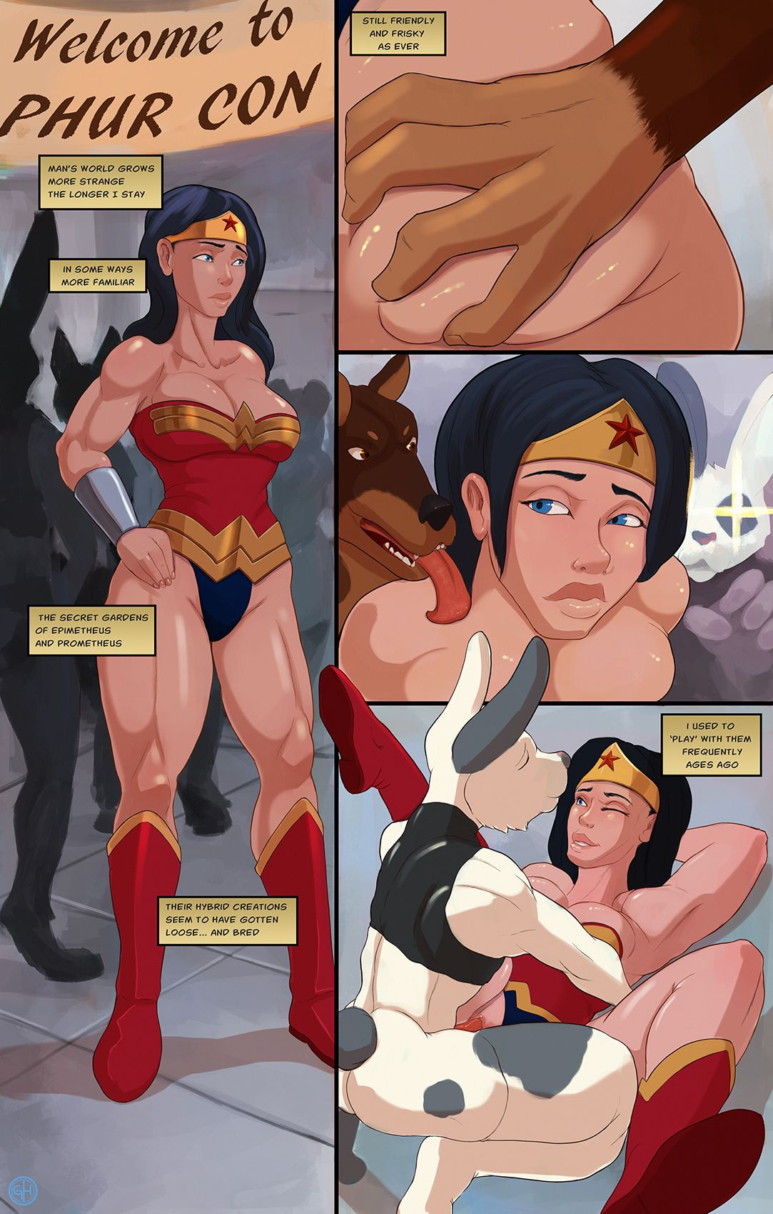 cartoon wonder woman porn